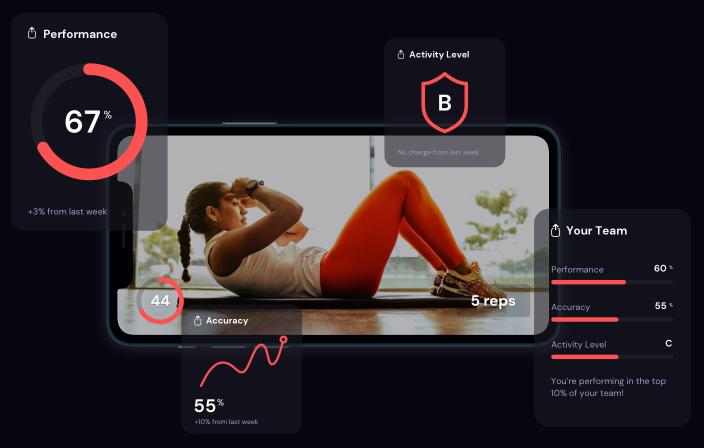 TeamSportz app design push-ups
